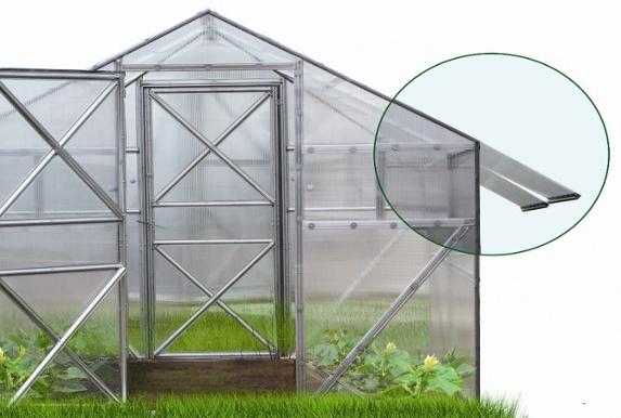 теплица поликарбонат съемная крыша