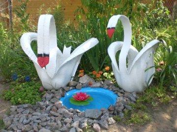 Скульптуры из шин