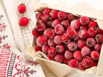 Заморозка ягод боярышника