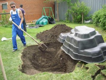 Из чего построить пруд?