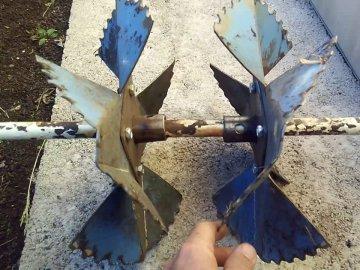 Как изготовить пропеллерный окучник?