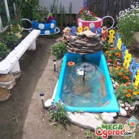 Мини водоем в саду
