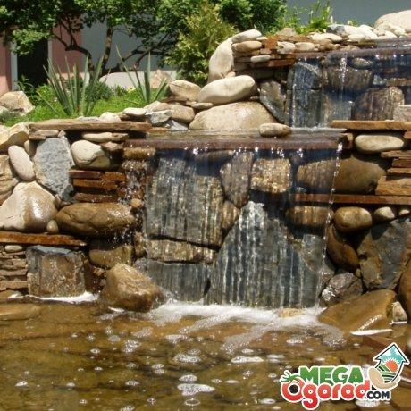 Декорирование садового водопада