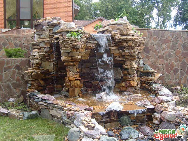 искусственный водопад фото